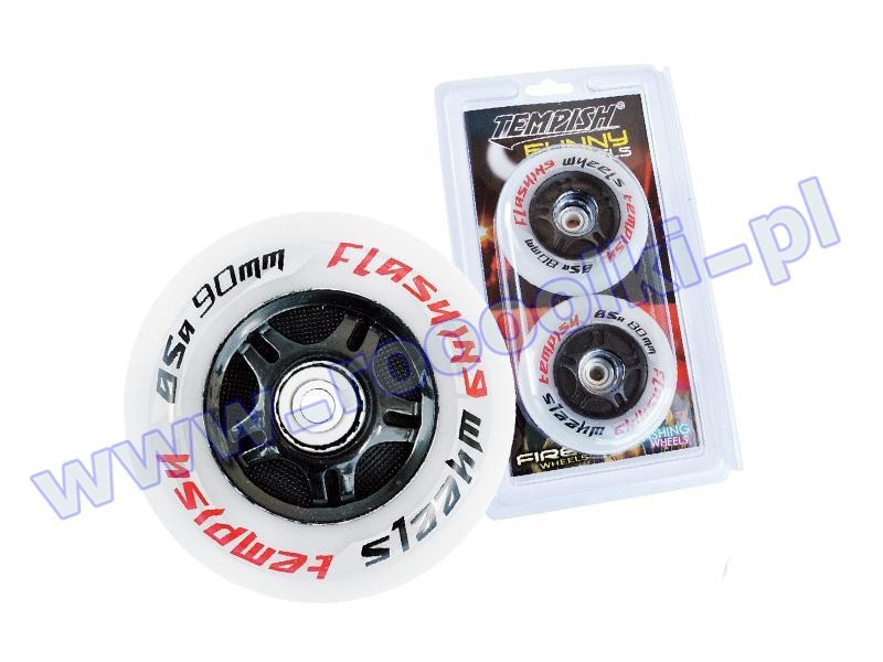 Zestaw 2 kółek Tempish Flashing Wheels 76mm / 85A 2016 przeceny
