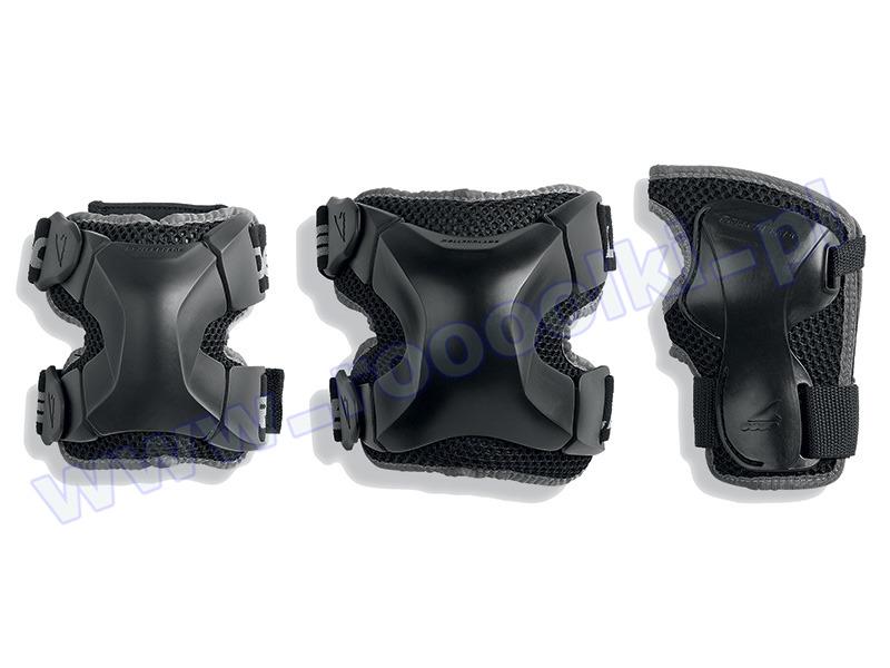 Zestaw ochraniaczy Rollerblade X-Gear 3 Pack Black 2017 przeceny